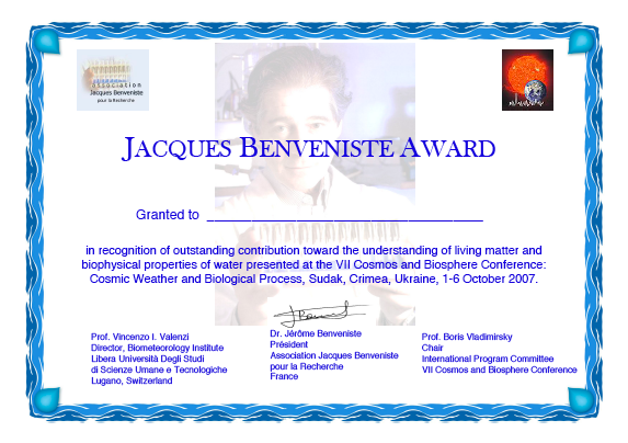 Jacques-Benveniste-Award-diploma-small